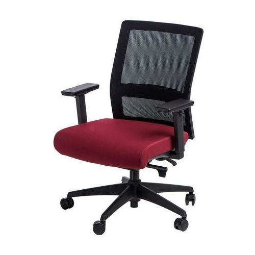 Maduu studio Fotel biurowy press czarny/czerwony (5902385728607)