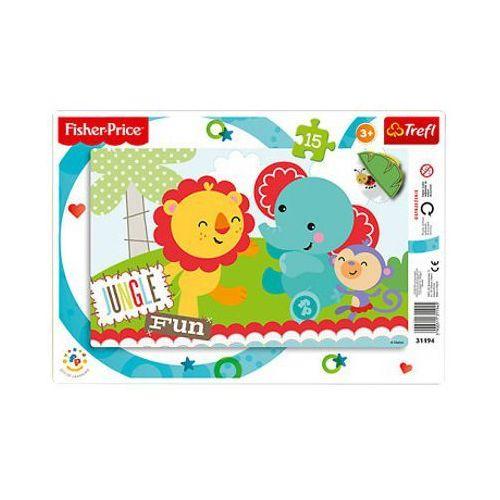 Trefl 15 elementów ramkowe, dżungla rainbow forest, kategoria: gry dla dzieci
