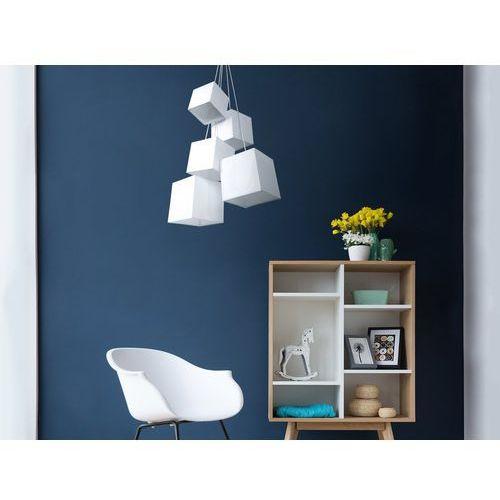 Lampa sufitowa wisząca - żyrandol biały - oświetlenie - mesta marki Beliani