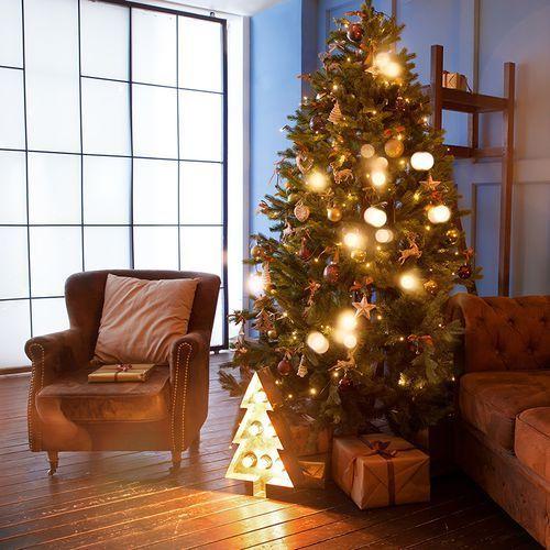 Choinka bożonarodzeniowa den led barwa ciepło biała 2,1 m marki Kaemingk