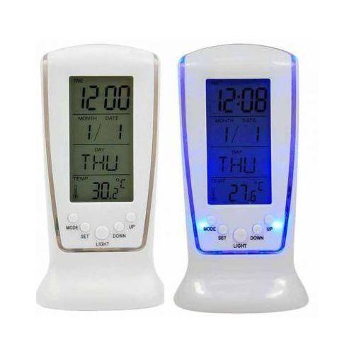 Stacja Pogodowa Elektroniczna LED zegar, Termometr Biała, MM-OPDGHHJS0