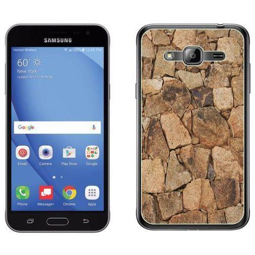 Samsung galaxy j3 2016 - etui na telefon - kolekcja kamień - beżowy kamień - d20 marki Zolti