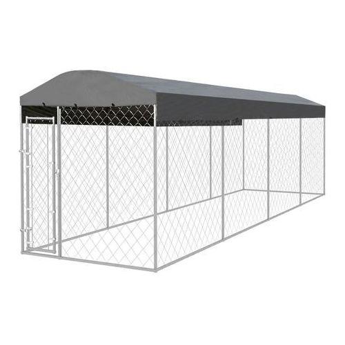 vidaXL Kojec dla psa klatka z dachem 800 x 200 cm (8718475519256)