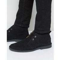 Ben Sherman Mocam Desert Boots In Black Suede - Black