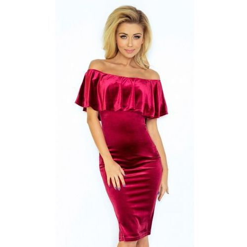 Sukienka Numoco Velvet XXL burgund, 1 rozmiar