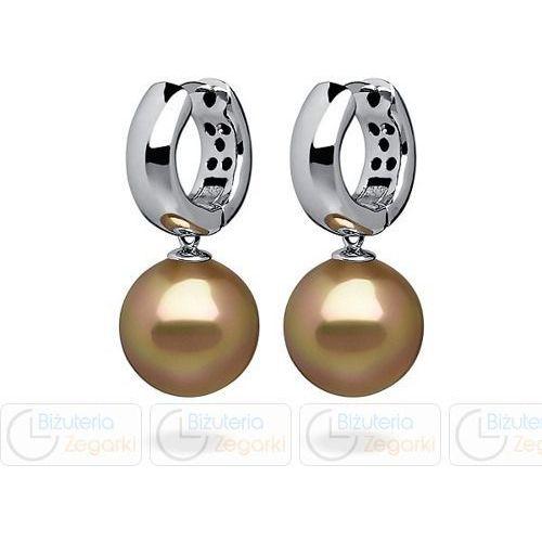 Florenzo castello Fc kolczyki z perłą wiszące 3061221008 pm 12 kolor złoty - OKAZJE