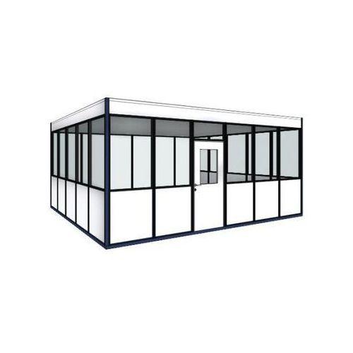 Biuro w hali, 4-stronne, do dowolnego ustawienia, szer. zewn. 2100 mm, dł. zewn.
