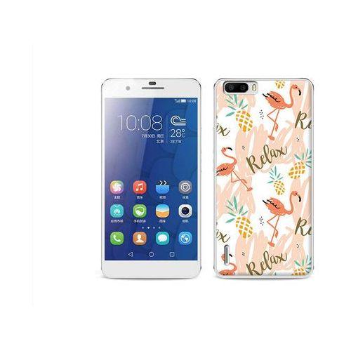 Fantastic Case - Huawei Honor 6 Plus - etui na telefon Fantastic Case - różowe flamingi z kategorii Futerały i pokrowce do telefonów