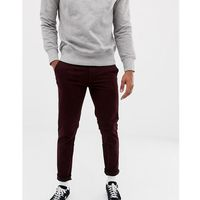 Burton Menswear skinny chinos in burgundy - Red, kolor czerwony