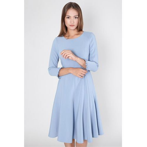 Sukienka z falbaną przy rękawie - Click Fashion, 1 rozmiar