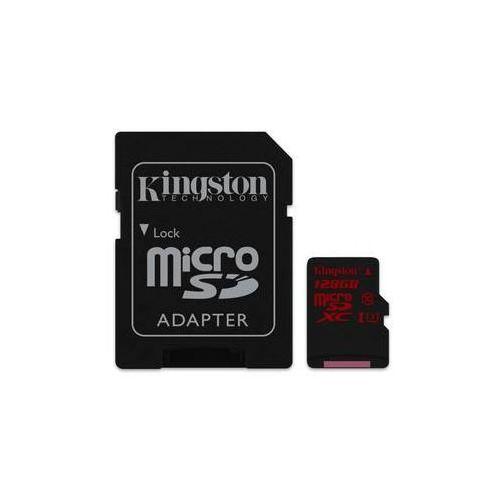 Kingston Karta pamięci microsdxc 128gb uhs-i u3 (90r/80w) + adapter (sdca3/128gb)