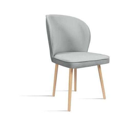 B&d Krzesło rino jasny szary/ noga dąb/ ja81