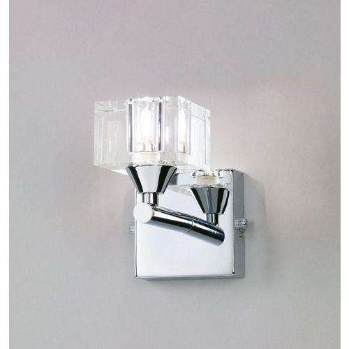 kinkiet CUADRAX 1L chrom, szkło optyczne, MANTRA 0962