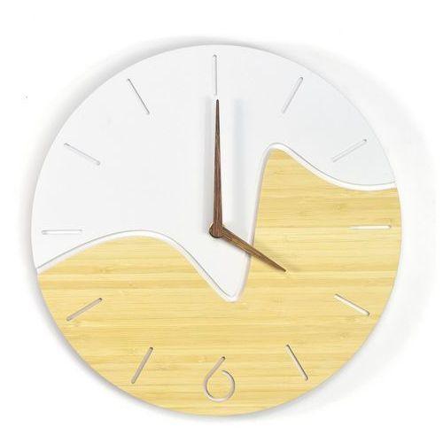 BAMBUSOWY Nowoczesny zegar NORD Oscillo, Clock-0004