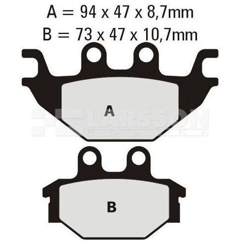 Klocki hamulcowe EBC (2 szt.) FA377R 4100768 Adly/Herchee Crossroad 300