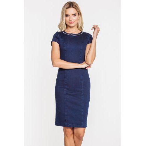 Jeansowa obcisła sukienka - RJ Rocks Jeans, kolor niebieski