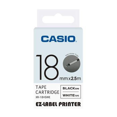 Casio taśma etykiet termozgrzewalna (do oznaczania kabli) XR-18HSWE, XR18HSWE, XR-18HSWE