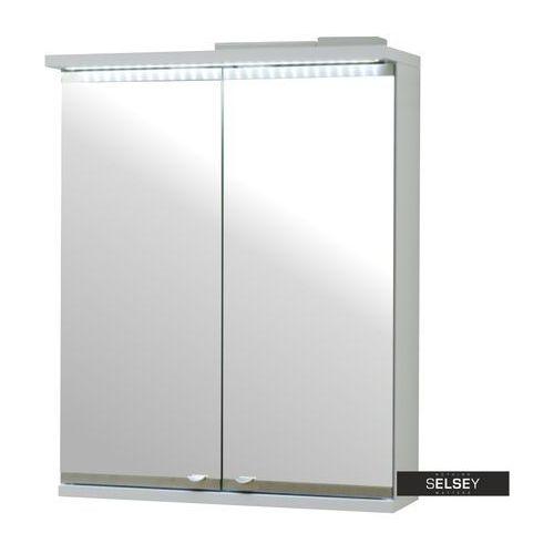 SELSEY Szafka łazienkowa Isme dwudrzwiowa 50 cm z oświetleniem LED