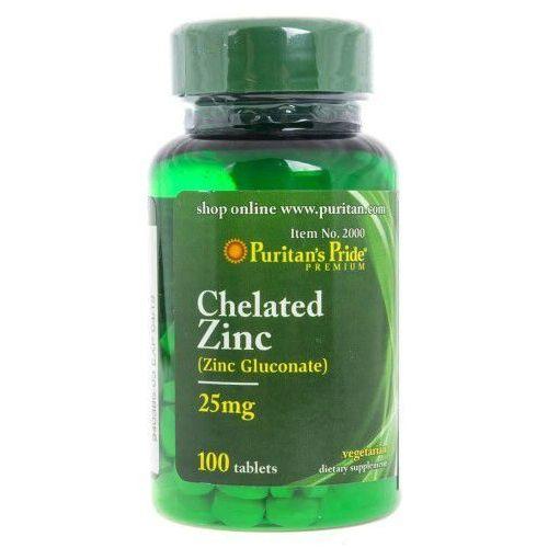 Tabletki Puritan's Pride Zinc Gluconate (glukonian cynku) 25 mg - 100 tabletek