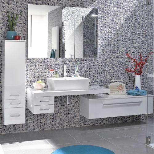 Nowoczesny biały zestaw łazienkowy biały Lanzet Q4