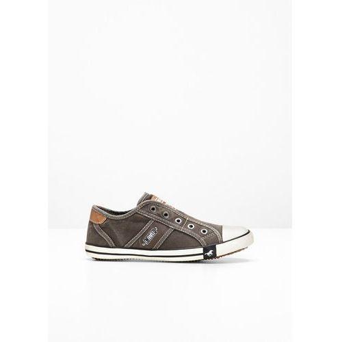 Sneakersy mustang ciemnoszary marki Bonprix