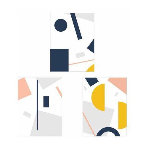 Art canvas Zestaw 3 plakatów geometryczna abstrakcja 30 x 40 cm (5901844248199)
