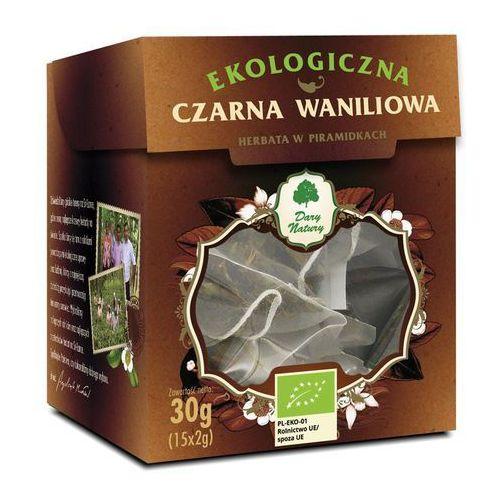 Herbata czarna waniliowa piramidki bio (15 x 2 g) - dary natury marki Dary natury - test