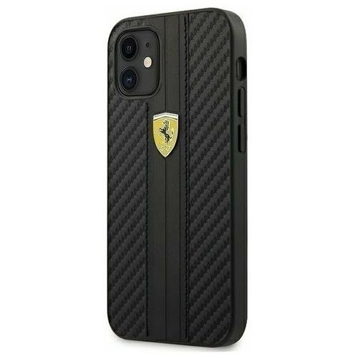 "Ferrari FESNECHCP12SBK iPhone 12 mini 5,4"" czarny/black hardcase On Track PU Carbon (3700740479742)"