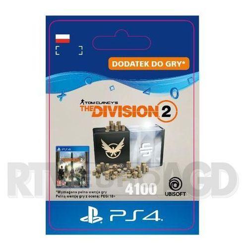 Tom clancy's the division 2 - pakiet 4100 kredytów [kod aktywacyjny] ps4 marki Sony