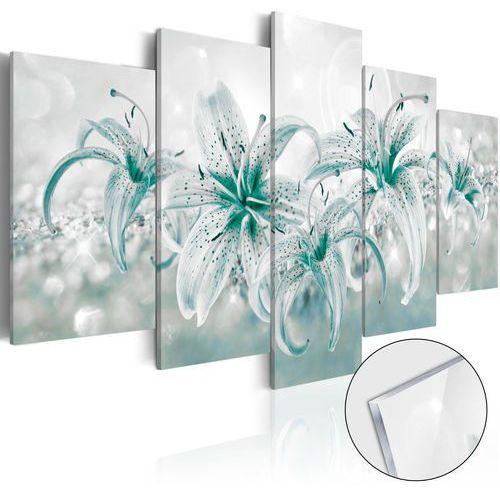 Obraz na szkle akrylowym - Szafirowe lilie [Glass] bogata chata