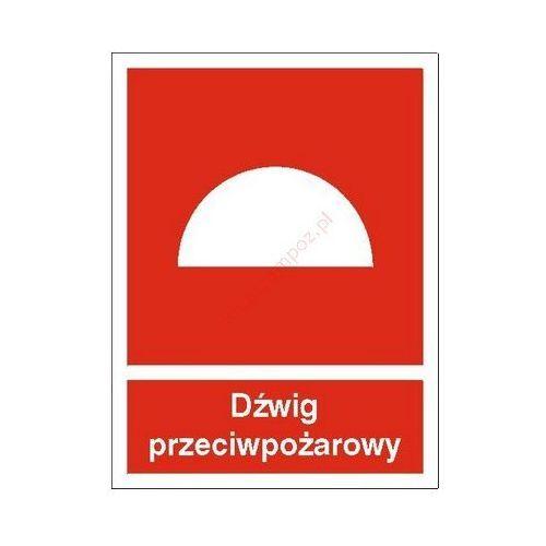 Znak Dźwig przeciwpożarowy PB z kategorii Znaki informacyjne i ostrzegawcze