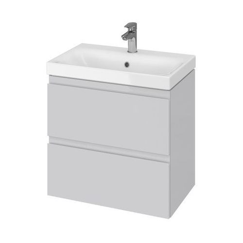 Cersanit set szafka moduo szary połysk + umywalka moduo slim 60 s801-226