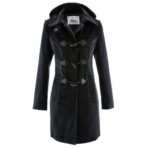 Płaszcz z kapturem bonprix czarny, w 9 rozmiarach