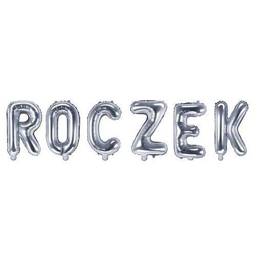 """Zestaw balonów foliowych """"Roczek"""" srebrny - 35 cm (5907509930355)"""