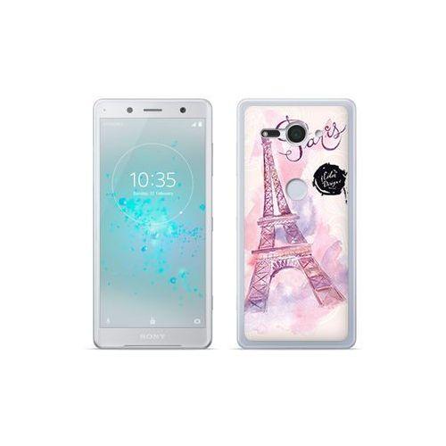 etuo Fantastic Case - Sony Xperia XZ2 Compact - etui na telefon Fantastic Case - różowa wieża eiffla, kolor różowy