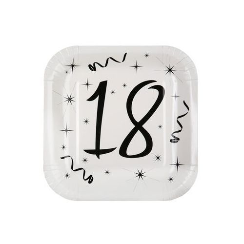 Talerzyki na osiemnaste urodziny - 23 cm - 10 szt.