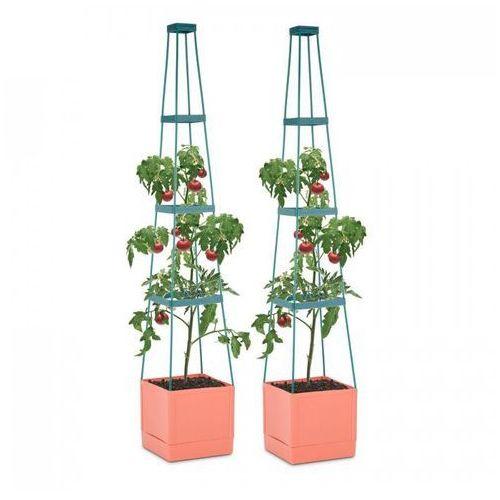 Waldbeck Tomato Tower pojemnik do hodowli roślin komplet 2-częściowy 25x150x25cm podpora PP