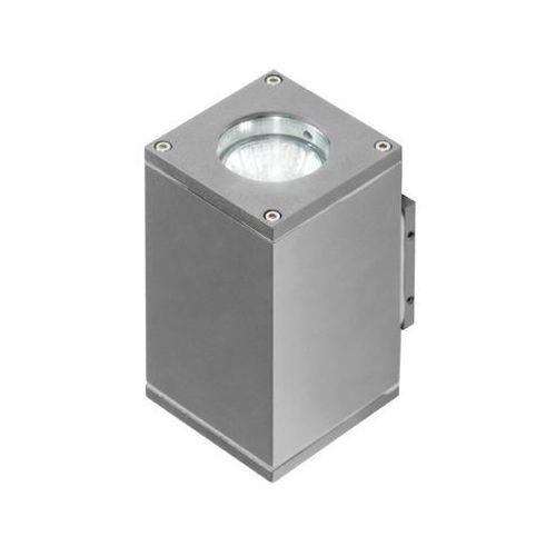 livio 2 gm1101-2 kinkiet lampa ścienna oprawa zewnętrzna 2x50w gu10 ip54 szary - darmowa wysyłka + żarówka led za 1 zł gratis! marki Azzardo