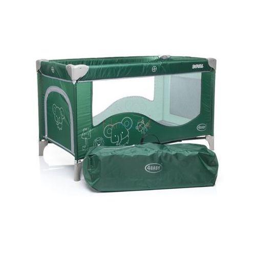 4Baby Łóżeczko turystyczne jednopoziomowe ROYAL zielone, 22355