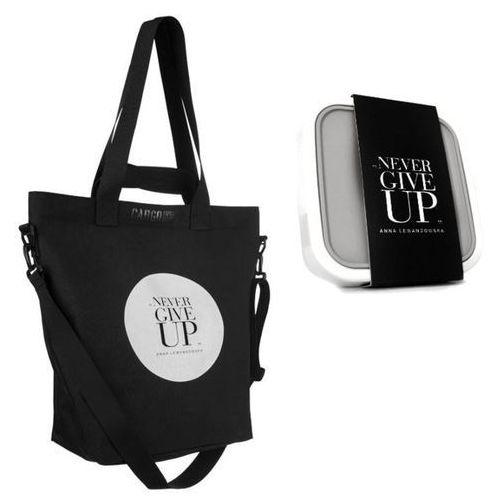 Healthy Plan by Ann - Torba CARGO NGU czarna+ lunchbox na sałatki, kolor czarny