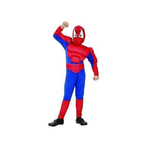 Kostium dziecięcy człowiek pająk - spiderman z mięśniami - m - 121/130 cm marki Go