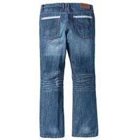 Bonprix Dżinsy z kontrastowymi szwami regular fit bootcut niebieski