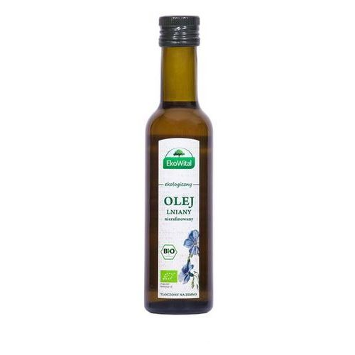 Eko-wital Olej lniany tłoczony na zimno bio 250 ml - ekowital