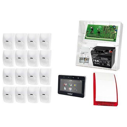 Satel set Profesjonalny system alarmowy: płyta główna integra 64, manipulator int-tsg-sb, 16x czujka bingo, sygnalizator zewnetrzny spl-5010 r, akcesoria
