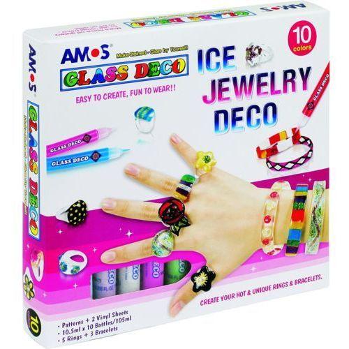 Farby witrażowe glass deco 10 kol.+biżuteria marki Amos