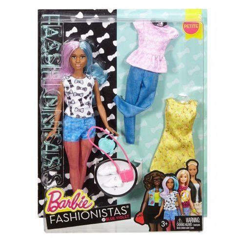 lalka i ubranka niebiesko-fioletowe włosy marki Barbie