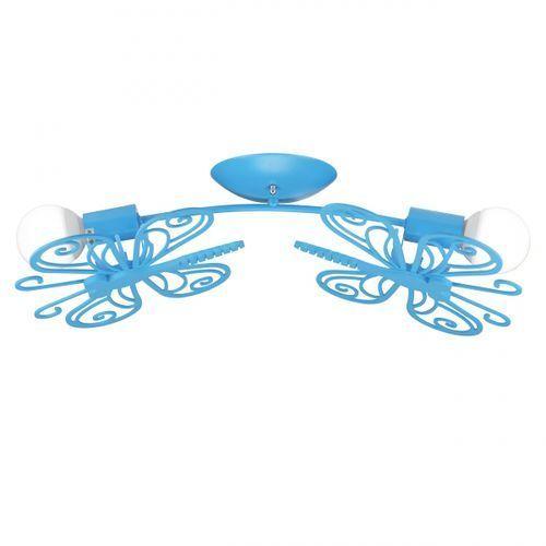 Light prestige Lampa sufitowa motylek 2 niebieski, lp-14031/2c niebieski