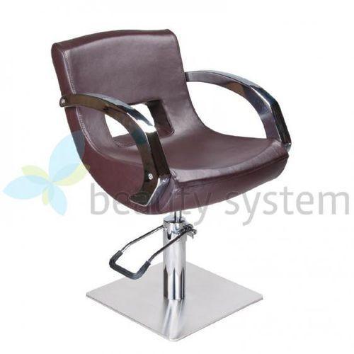 Fotel Fryzjerski NINO BD-1131 Brązowy z kategorii Akcesoria fryzjerskie