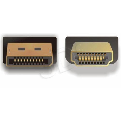 KABEL DISPLAYPORT M->HDMI M 3M GOLD DELOCK