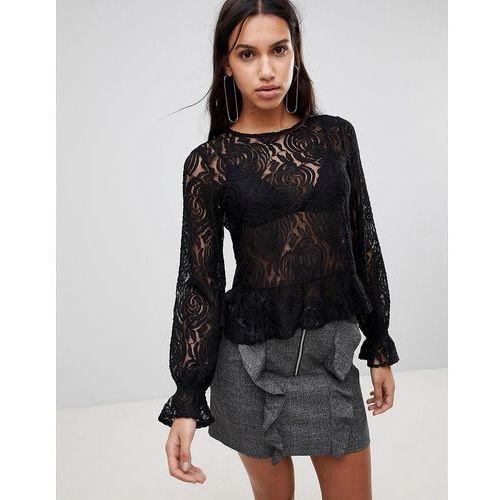 sunflower lace blouse - black, Y.a.s, 34-38